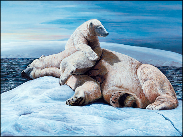 Polar Ice - Polar Bear Painting